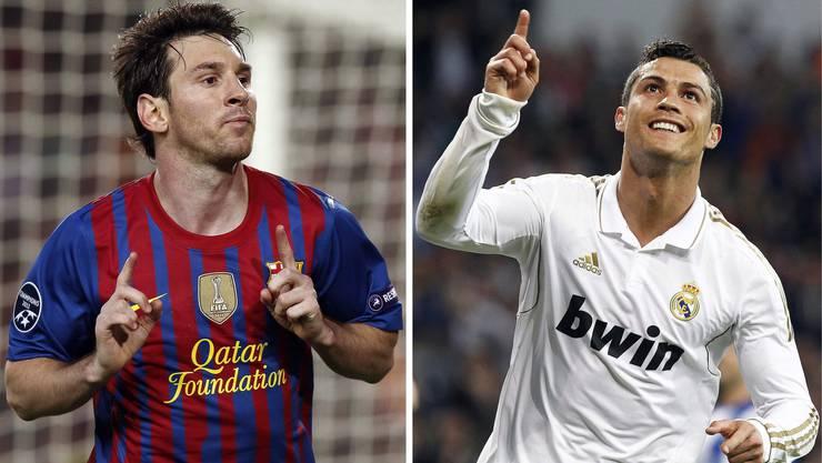 Wer ist der Grösste: Messi (links) oder Cristiano Ronaldo?