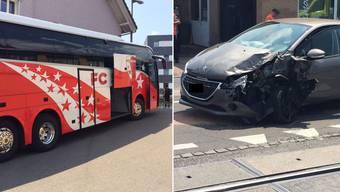Heftiger Verkehrsunfall in Seon