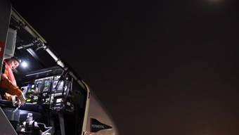 Um 4 Uhr morgens Ortszeit (10 Uhr Schweizer Zeit) startete Pilot Bertrand Piccard das Solarflugzeug vom internationale Flughafen in Dayton, Ohio.