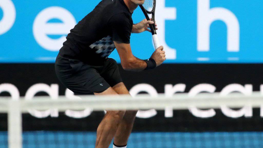Roger Federer läuft es im ersten Spiel der neuen Saison wunschgemäss