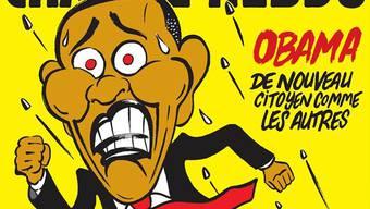 «Obama, wieder ein Bürger wie alle anderen» lautet die Schlagzeile der Ausgabe von Charlie Hebdo.