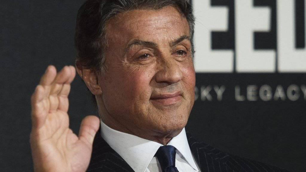 """Er hat es bestimmt nicht böse gemeint: """"Bester Nebendarsteller"""" Sylvester Stallone vergass in seiner Dankesrede an den Golden Globes, seine wichtigsten Film-Kollegen zu erwähnen (Archiv)."""