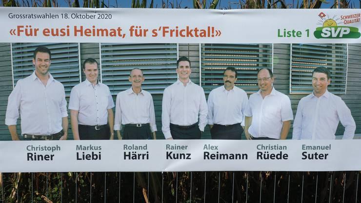 Das Plakat der SVP Laufenburg.