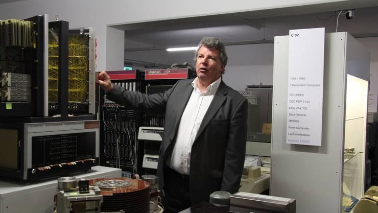 Robert Weiss im Computermuseum Enter.