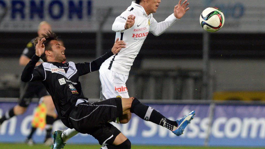 Auch in Lugano reichte es den Young Boys (rechts Yuya Kubo) nicht zum Sieg