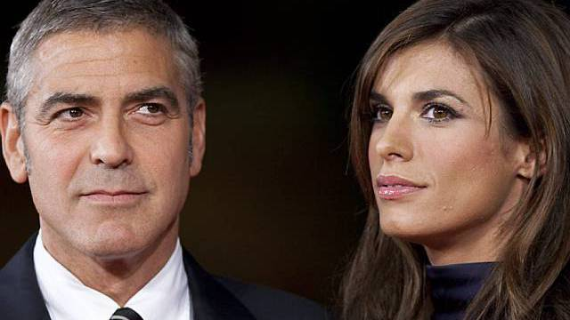 George Clooney mit Freundin Elisabetta Canalis