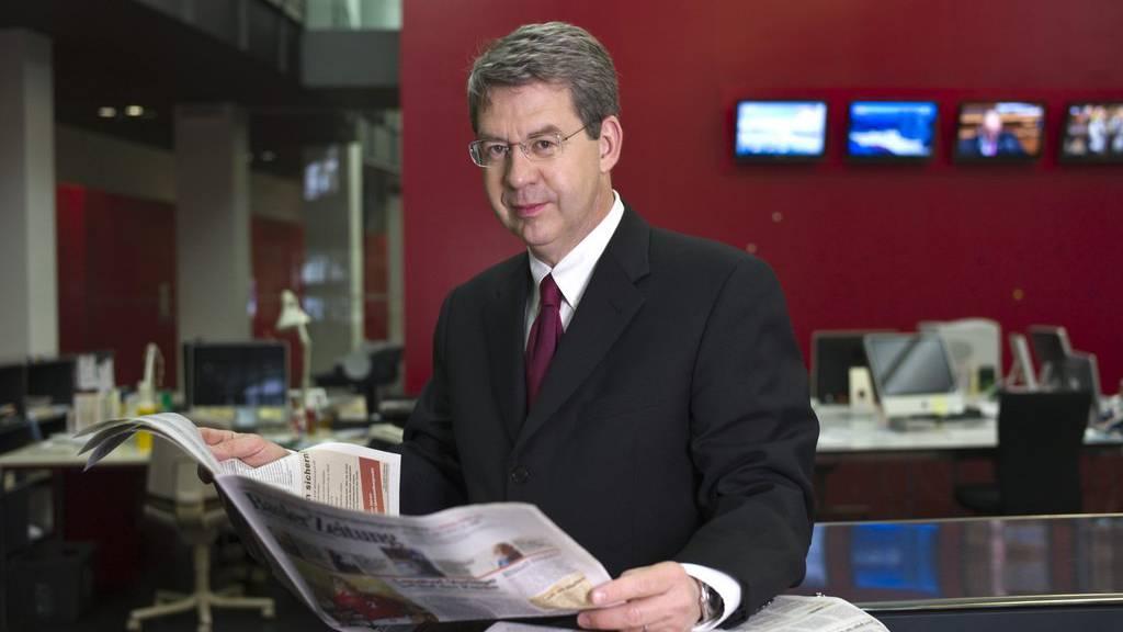 Der verstorbene Martin Wagner war Verwaltungsratspräsident der Basler Zeitung und Medienanwalt. Das Bild wurde am  3. März 2010 in den Redaktionsräumen der Basler Zeitung in Basel aufgeommen.