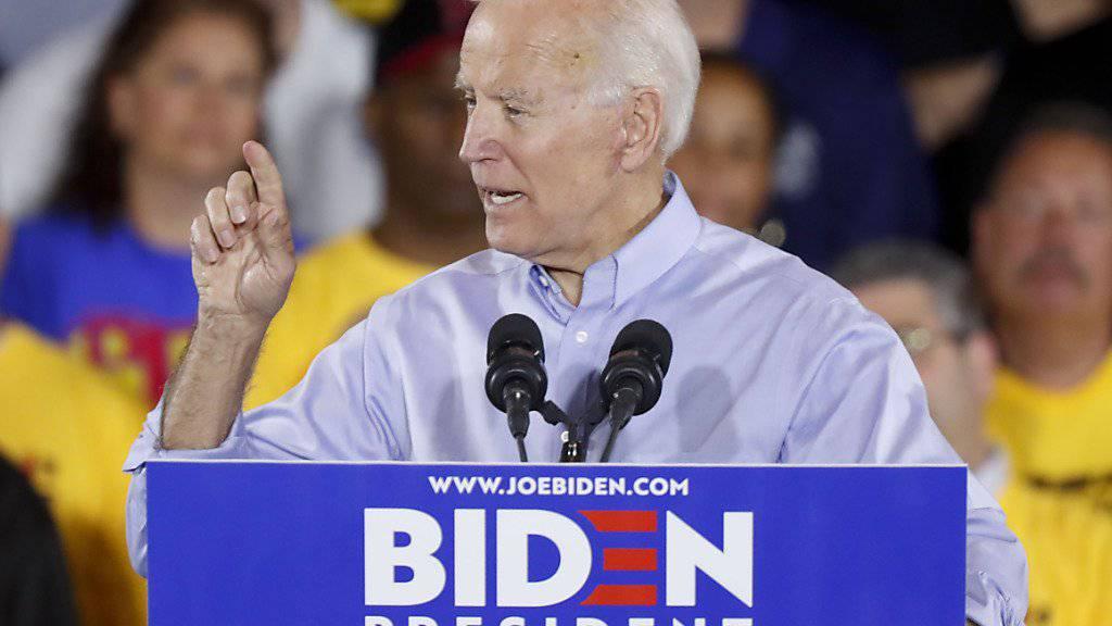 Start des Wahlkampfes: Die Demokraten in den USA hoffen auf Joe Biden, dass er Donald Trump als US-Präsident ablösen kann.