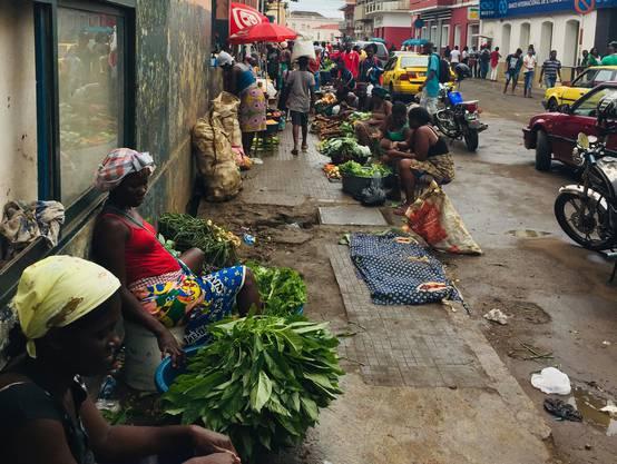 Markt in Sao Tomé.