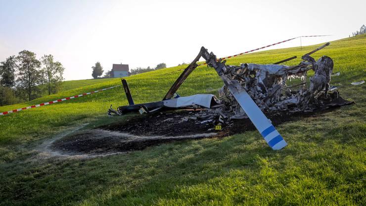 Am Samstagnachmittag verunglückte ein Helikopter in Herisau.