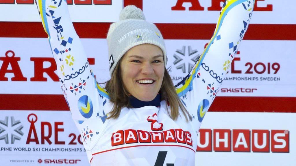 Dank dem Slalom-Silber von Anna Swenn Larsson hat nun auch der Gastgeber aus Schweden eine Medaille