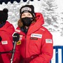 Zelt statt Nobelhotel: Michelle Gisin beim Medientermin in St. Moritz
