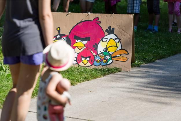 Auch moderne Motive dabei: Bei «Angry Birds» bewiesen viele ihre Treffsicherheit.
