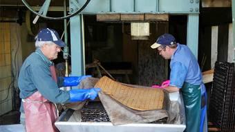 In der «Fledermosti» in Hellikon wird in den kommenden Tagen wieder Apfelsaft gepresst. zvg