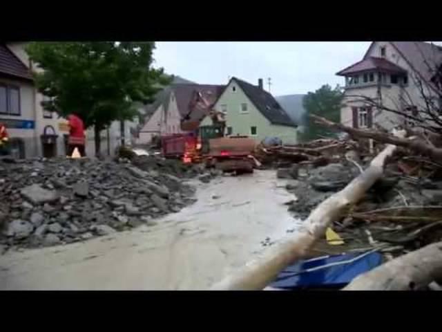 Braunsbach: Verheerende Überflutungen nach Unwetter am 29.05.2016