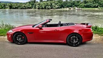 Offen ist der Jaguar natürlich am schönsten.