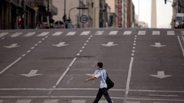 Leere Strassen in Buenos Aires