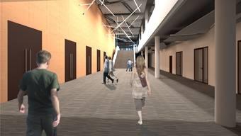 So soll sich das Foyer des Campussaals präsentieren. zvg