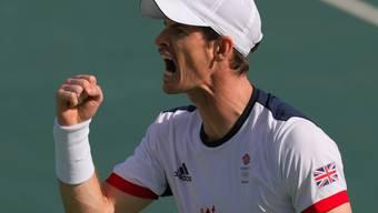 Ein Sieg fehlt Andy Murray im Einzel noch zur Wiederholung seines Grosserfolgs von London