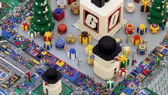 """Blick auf eine """"Lego Christmas City"""" (Archiv)"""