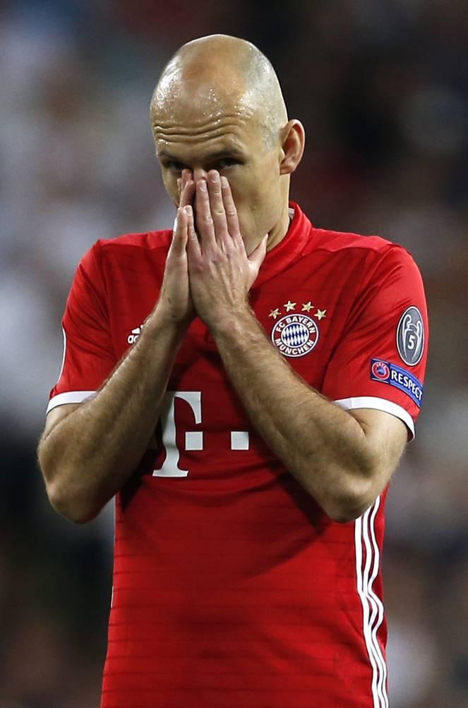 Ein Symbol des überalterten FC Bayern. Arjen Robben (33) jagt vergeblich nach Europas Sternen.