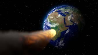 Beim Einschlag war der ausserirdische Brocken sofort verdampft, schleuderte aber einige tausend Kubikkilometer Gesteinsmaterial in die Atmosphäre.
