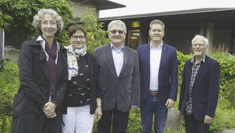 Vorstand (v.l.): Sabine Zinniker, Silvia Hausner, Max Rickenbacher (Präsident), Martin Haefeli (neu), Eric Weil (neu).zvg