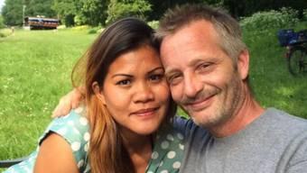 Christian Kast und seine Frau. Er verhalf ihr und seinen Kindern zur Flucht auf die Philippinen.