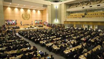 Blick auf die ILO-Jahreskonferenz am 30. Mai