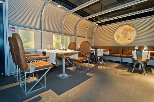 Das Restaurant Wolke 7 in einem nachgebauten Flugzeugrumpf