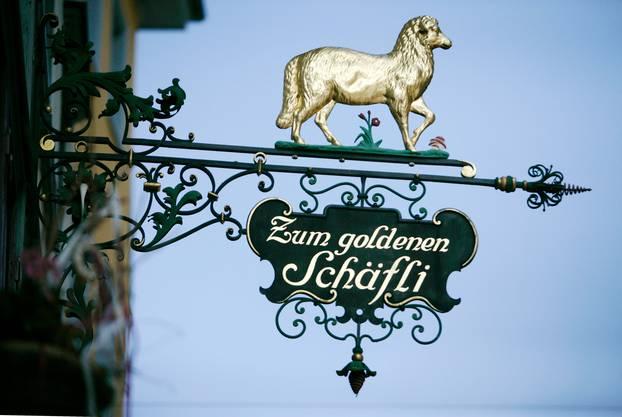 «Zum Goldenen Schäfli» an der Metzgergasse ist eines der bekanntesten Erststock-Beizli der Stadt.