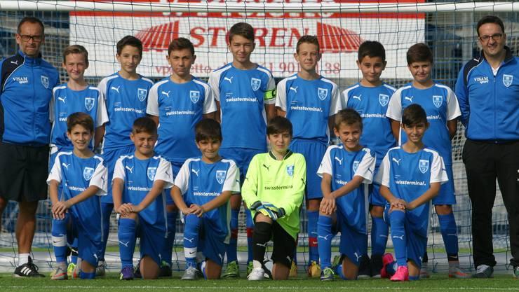 D-Junioren b vom FC Frenkendorf  Herbstmeister 2015