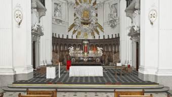 Der neue Chor der St.-Ursen-Kathedrale.