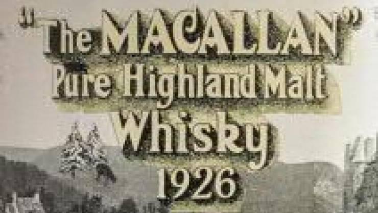 Beim Auktionshaus Sotheby's in London ist eine Flasche Whisky für einen Rekordpreis versteigert worden: Der 60 Jahre alte Macallan 1926 Single Malt aus Schottland kam für 1,5 Millionen Pfund (1,91 Millionen Franken) unter den Hammer.