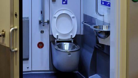 Die Frau wurde vom Täter in die S-Bahn-Toilette gedrängt (Symbolbild).