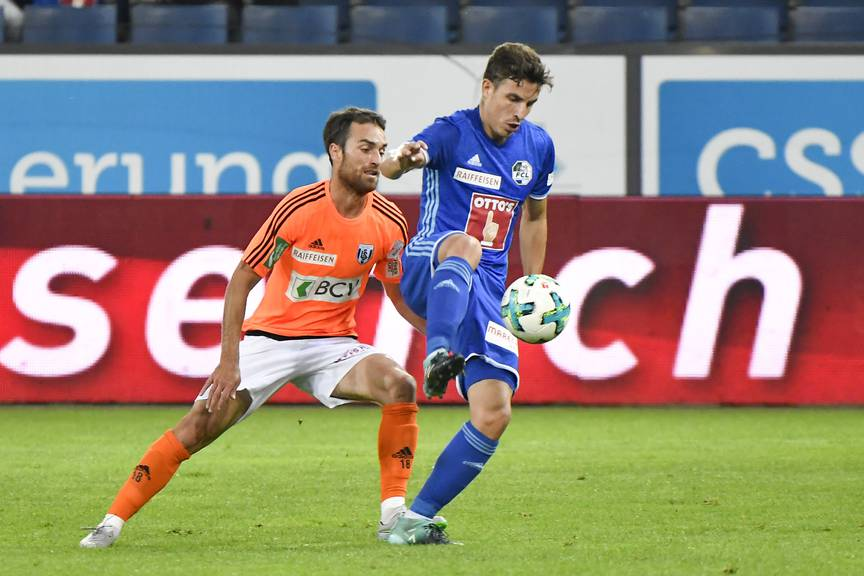 Olivier Custodio (rechts) wechselte im Sommer 2017 von Lausanne nach Luzern.
