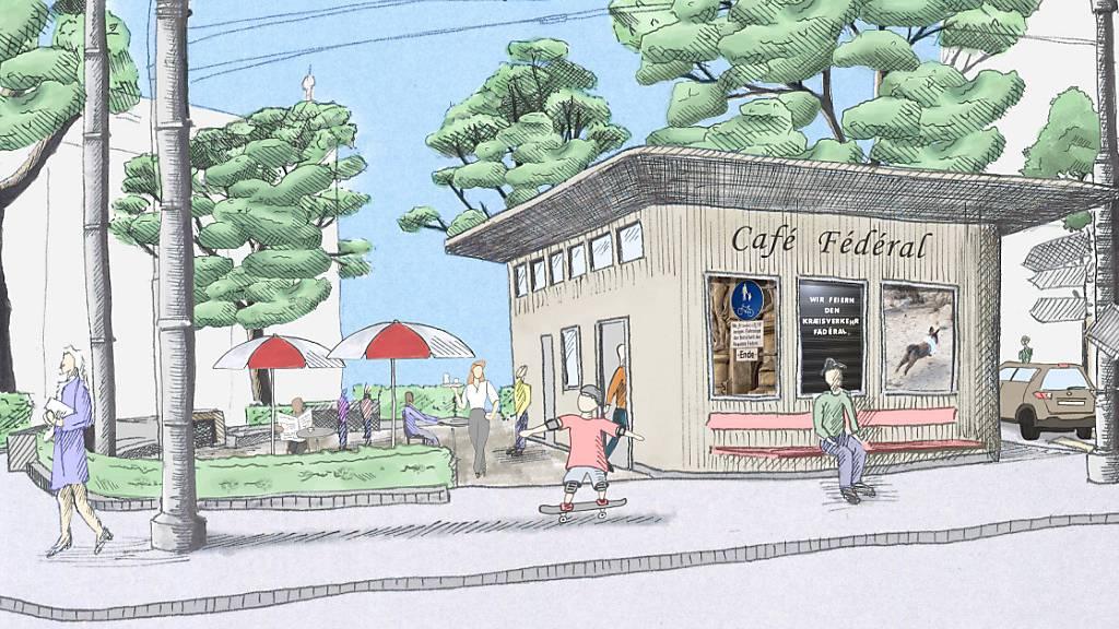 So stellen sich die Initianten das «Café Fédéral» vor.