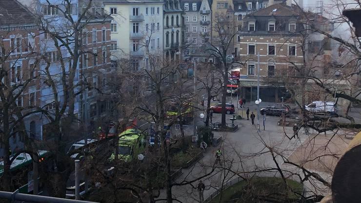 Unfall zwischen Riehenring und Klybeckstrasse.