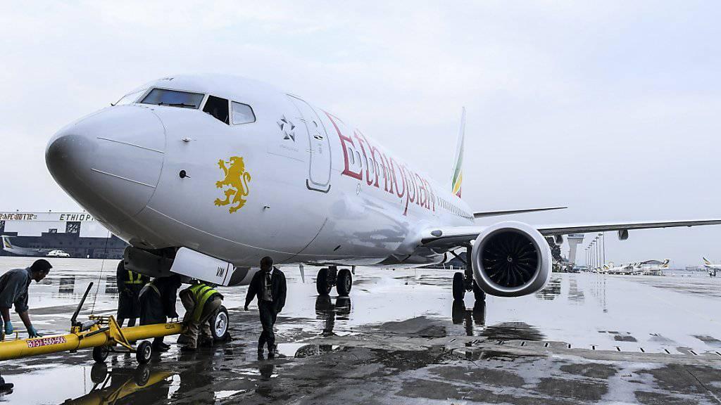 Eine Boeing 737 Max 8 der äthiopischen Fluggesellschaft Ethiopian Airlines. Eine Maschine gleichen Typs stürzte am Sonntag kurz nach dem Start ab. Alle 157 Insassen starben.