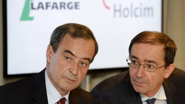 Bruno Lafont, links, unterhält sich mit Bernard Fontana (Archiv)