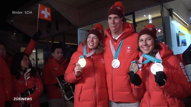 Kompletter Medaillensatz für Ski-Trio