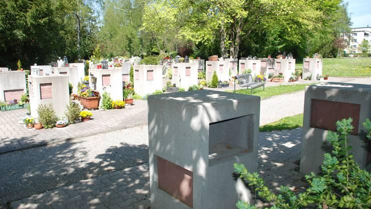 Platz für Urnen und Gemeinschaftsgrab
