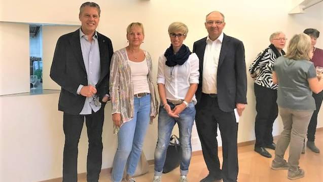 Daniel und Monika Sommer, Fabiola Steingruber, Beni Thurnheer (v. l. n. r.)