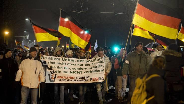 Anti-Islam-Demos bald auch in der Schweiz? Keystone