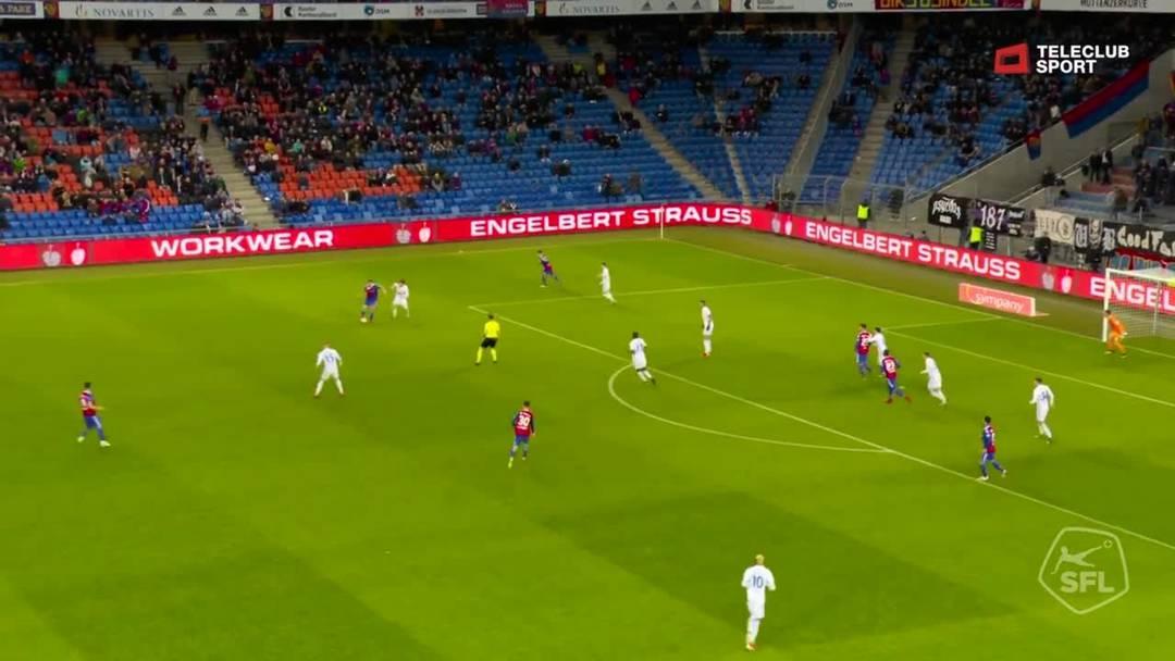 47. Minute: Tor für FC Basel 1893 von Albian Ajeti (Assist: Samuele Campo)