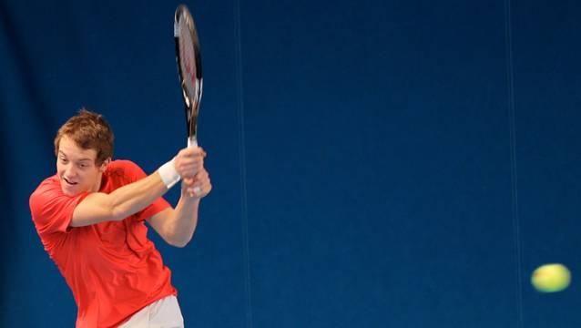 Knapp den ersten ATP-Punkt verpasst: Nathan Schmid darf mit seiner Leistung gleichwohl zufrieden sein.