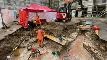 Ausgrabungen.