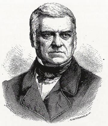 Einer der ersten zwei Aargauer Ständeräte war Augustin Keller 1848.