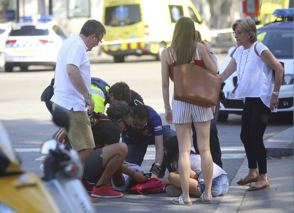 Terror in Barcelona (© keystone)