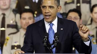 Obama spricht vor der Polizei von Minneapolis über die Reform der US-Waffengesetze